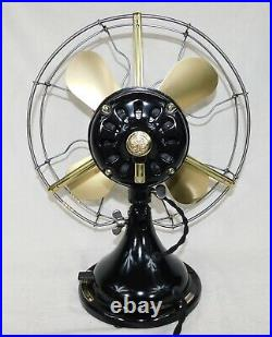Antique GE 1917 Fan. 3 Speeds, Just Reworked. Cast Iron And Steel! Beautiful