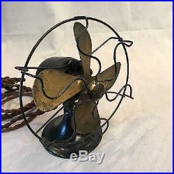 Antique GE 6 Series-F Brass Blade Fan