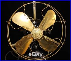Antique GE Brass Blade Fan 18 inches circa 1895-1901 IT WORKS