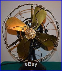 Antique GE Patent 1901 Brass Blade and Cage Electric Fan