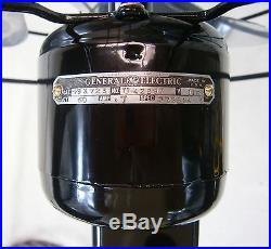 Antique GE Quiet Model Fan. Cast Iron Base. Late 1930s Fan Just Reworked