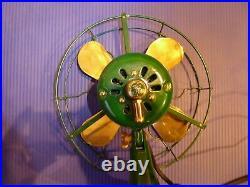 Antique GE Whiz 9 brass blade fan Vintage Professionally Restored
