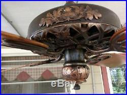 Antique GE oakleaf ceiling fan