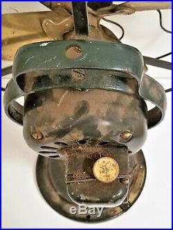 Antique General Electric Fan Brass Blades Cage 12 Oscillator Vtg. G. E. Model