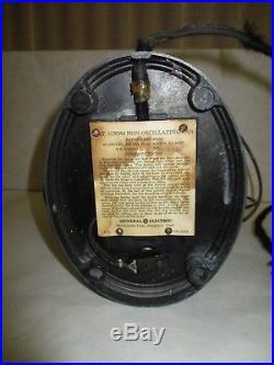 Antique General Electric GEJ-436A 55x164 Fan Original Working Condition