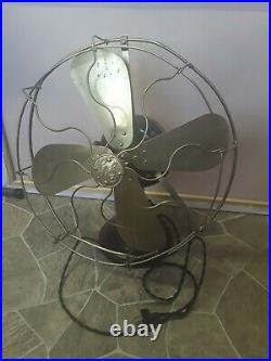 Antique General Electric GE Brass Blade Fan Alternating Current Pat 1901