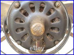 Antique General Electric Ge Fan Brass Blades Alternating