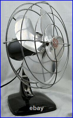 Antique General Electric GE Mid Century 10 Bakelite Fan All Original