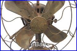 Antique General Electric Ge Fan Brass Blades Alternating Current Fan Motor 1901