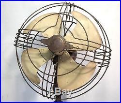 Antique General Electric Vortalex Pedestal Oscillating Fan Pre-War Art Deco