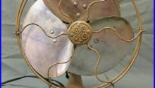 Antique General Electric WHIZ Style ART DECO Electric Fan NICE DESIGN WORKS WELL