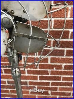 Antique Hunter Century PD-10 Industrial Cast Iron Steampunk Metal Floor Fan VTG