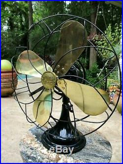 Antique Hunter Century Type 16 Oscillating Fan Restored