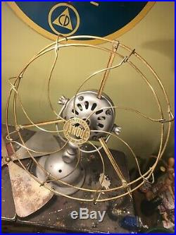 Antique JANDUS AC ELECTRIC FAN 16 BRASS CAGE BLADES Ready For Paint! Rare! Look