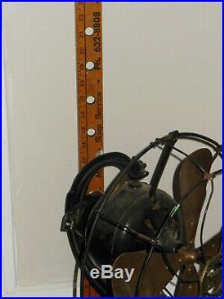 Antique Jandus C Frame Fan brass blade rare old Estate find FOR RESTORATION
