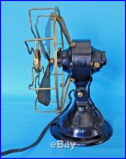 Antique Menominee Electric Mfg Cofan Black/gold Brass Working Serial #a15162