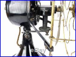 Antique Original 12 Colonial Front Oscillator Desk Fan