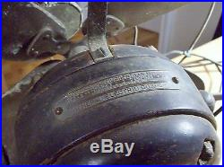 Antique Pat. 1901 GE 18 Brass Blade Electric Fan No. 615323 Original And Beauty