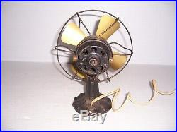 Antique Polar Cub Type G 6 Brass Blade Electric Fan