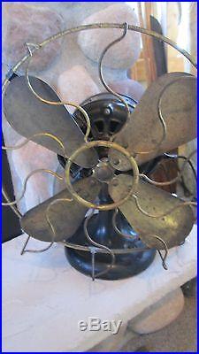 Antique R&M ROBBINS & MYERS 12 Fan Brass Blades Ser. No. 24935 PAT. Dec 26, 1893