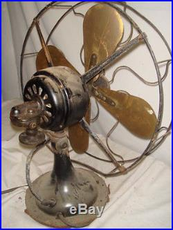 Antique R Amp M Robbins Amp Meyers Brass Blade Electric Fan