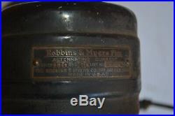 Antique Robbins & Myers 4204 Fan BRASS BLADES