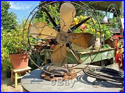 Antique Robbins & Myers Co. 13 Electric Fan 3 Speed Brass Blade Works