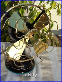 Antique Robbins & Myers cast iron desk fan, List #1801 AAA Beautiful Restoration