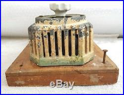 Antique Scarce Early Marelli Ceiling Fan Porcelain Switch Speed Regulator Italy