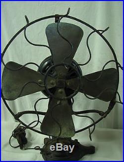 Antique The Standard Robbins & Myers Lollipop Fan 105453 Working
