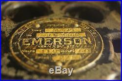 Antique Vintage 1910s 20s 110V Emerson Cast Iron Ceiling Fan Parts or Resto