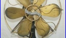Antique Vintage 1910s EARLY ELECTRIC AC Westinghouse Brass 6 Blade Fan WORKS