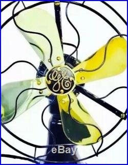 Antique, Vintage 1915 Ge Coin Operated Brass Blade Restored Fan Must See This