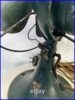 Antique Vintage 1931 General Electric 8 Non-Oscillating Tilt Fan