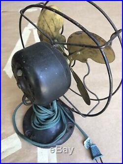 Antique Vintage Electric Fan. 9 Emerson Jr. Bullwinkle Style Blades