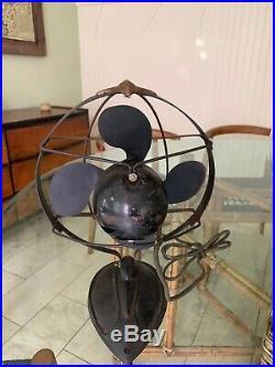 Antique Vintage Emerson Sea Gull 8 Tilt Adjust Fan