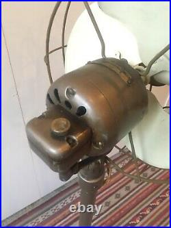 Antique Vintage GE Standing Floor Fan 30s 40s Art Deco