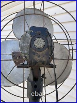 Antique Vintage General Electric Industrial Standing Floor Fan 30s 40s Art Deco