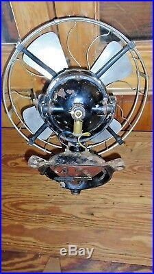 Antique Vintage J. Stone & Cº Electric Fan 24 volts Tab Foot
