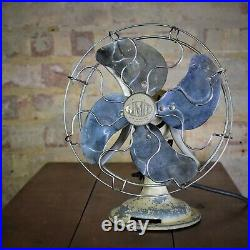 Antique Vintage Limit Electric Fan Metal English London N1 Fully Working