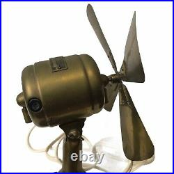 Antique Vintage Small WESTINGHOUSE 3.5 Blade Brass Fan Working Style 108448B
