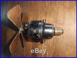 Antique Vintage Socket Electric Fan maybe Menominee
