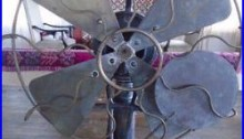 Antique Vintage The Standard Robbins & Myers Electric Fan Lollipop 16 inches