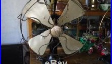 Antique Vintage Tigre DC Electric Fan 16 in Ming Blade
