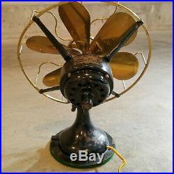 Antique Vintage WESTINGHOUSE ELECTRIC FAN 6 Brass Blades 3 Speeds 13 Cage