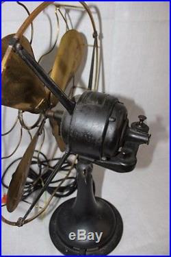 Antique Vtg Brass Oscillating Westinghouse Kitchen Industrial Fan Model 64851-C