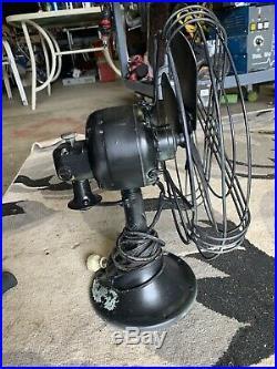 Antique Vtg General Electric GE Fan 33744 Works 12 Blades