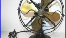 Antique Western Electric Brass blade Oscillating Fan 10 List No. 7600