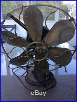 Antique Western Electric Company Fan Brass Blade Cage 3 Speed WORKS