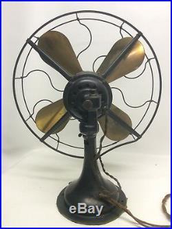Antique Westinghouse 16 3 Speed Brass Blade Fan Original Nice